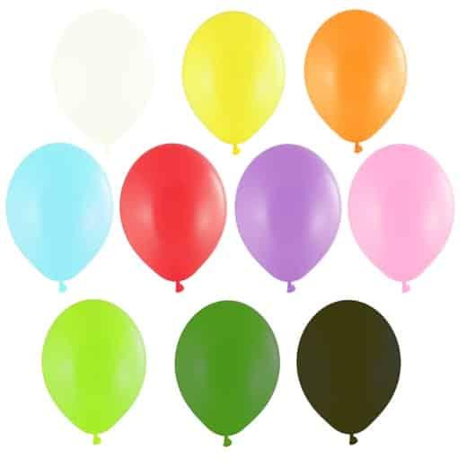 Spalvoti - pasteliniai balionai