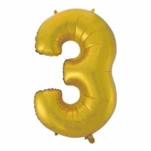 """Auksinis folinis balionas """"3"""""""