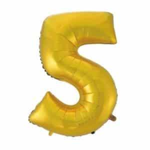 """Auksinis folinis balionas """"5"""""""