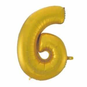 """Auksinis folinis balionas """"6"""""""