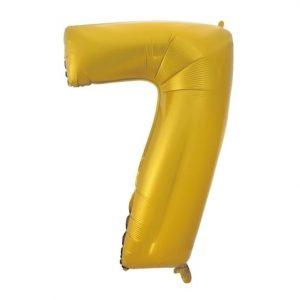 """Auksinis folinis balionas """"7"""""""