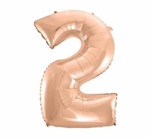 """Rožinis folinis balionas """"2"""""""