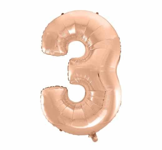 """Folinis balionas skaičius """"3"""""""