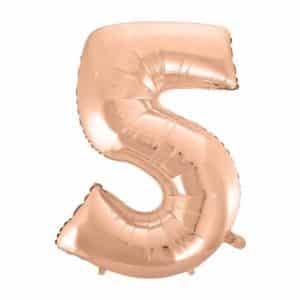 """Rožinis folinis balionas """"5"""""""