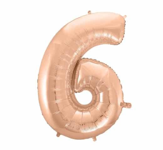 """Rožinis folinis balionas """"6"""""""
