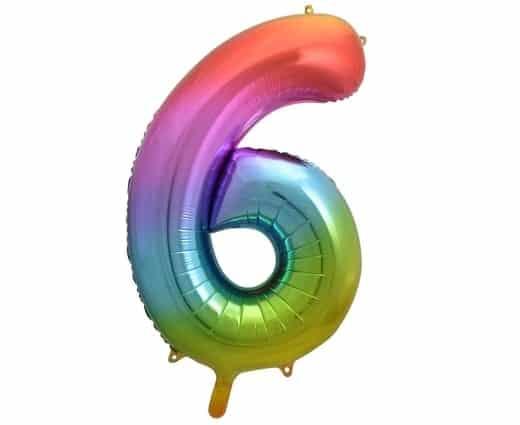 """Folinis balionas skaičius """"6"""""""