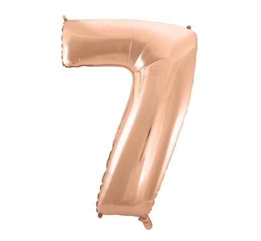 """Rožinis folinis balionas """"7"""""""