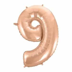 """Rožinis folinis balionas """"9"""""""