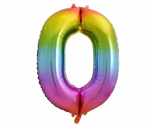"""Folinis balionas skaičius """"0"""""""