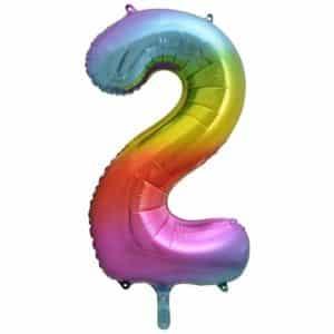 """Folinis balionas skaičius """"2"""""""
