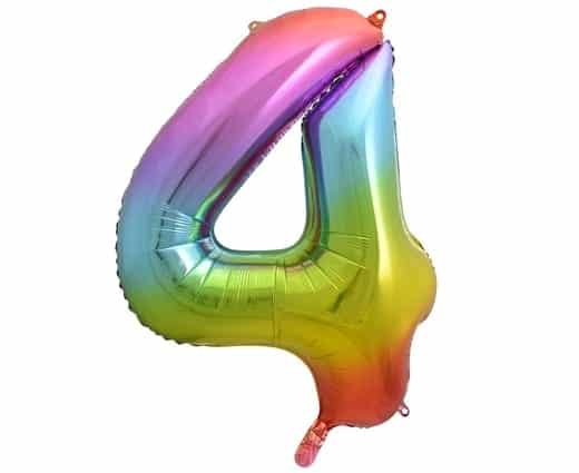 """Folinis balionas skaičius """"4"""""""