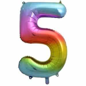 """Folinis balionas skaičius """"5"""""""