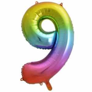 """Folinis balionas skaičius """"9"""""""