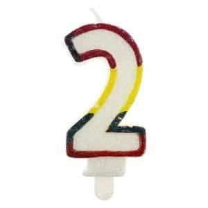"""Gimtadienio torto žvakutės """"2"""""""