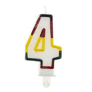 """Gimtadienio torto žvakutės """"4"""""""