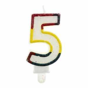 """Gimtadienio torto žvakutės """"5"""""""