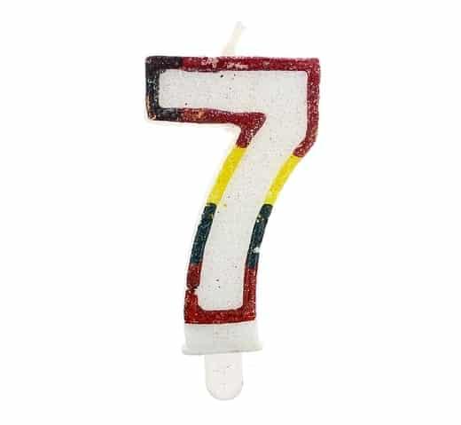 """Gimtadienio torto žvakutės """"7"""""""