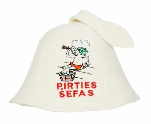 """Pirties kepurė su užrašu """"Pirties šefas"""""""