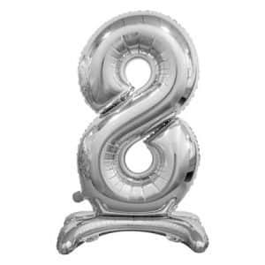 """Sidabrinis folinis skaičius """"8"""""""