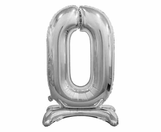 """Sidabrinis folinis skaičius """"0"""""""