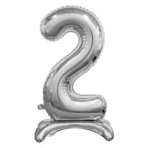 """Sidabrinis folinis skaičius """"2"""""""