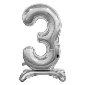 """Sidabrinis folinis skaičius """"3"""""""