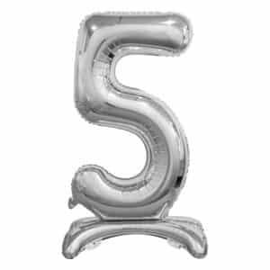"""Sidabrinis folinis skaičius """"5"""""""