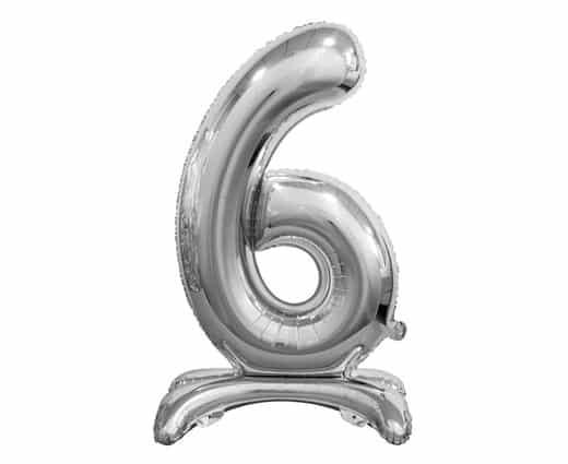 """Sidabrinis folinis skaičius """"6"""""""