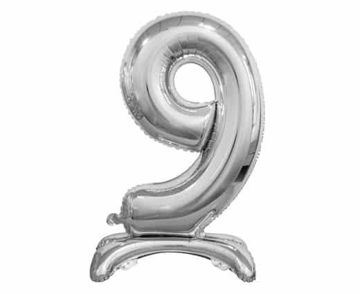 """Sidabrinis folinis skaičius """"9"""""""