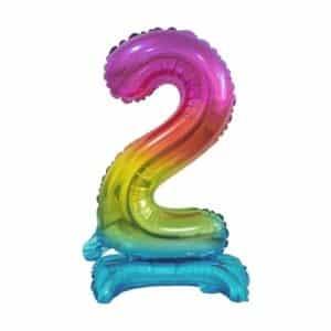 """Spalvotas folinis skaičius """"2"""""""