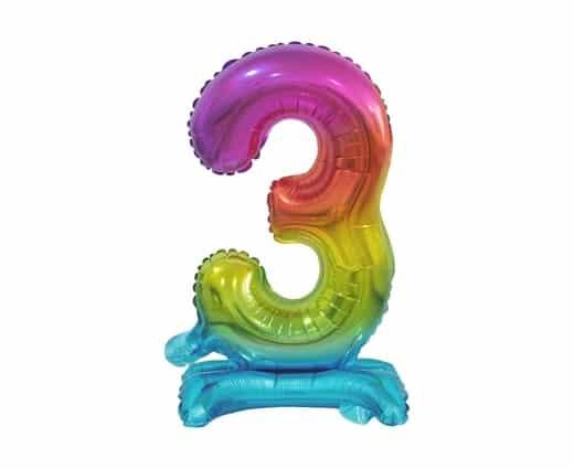 """Spalvotas folinis skaičius """"3"""""""