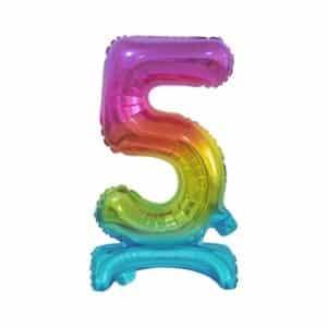 """Spalvotas folinis skaičius """"5"""""""