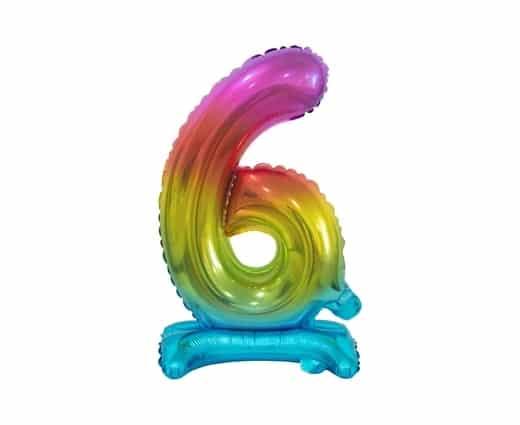 """Spalvotas folinis skaičius """"6"""""""