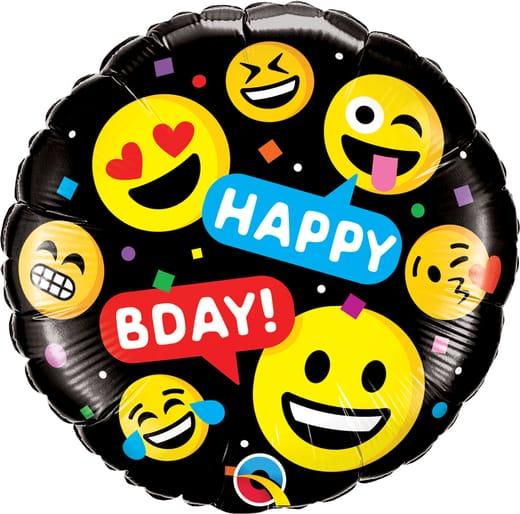 "Folinis balionas ""Happy B-DAY"""