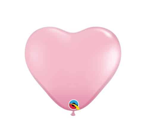 """Rožiniai balionai """"Širdelės"""" 15cm./06"""""""