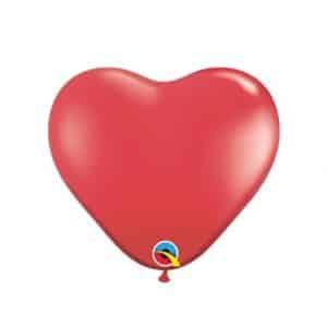 """Raudoni balionai """"Širdelės"""" 15cm./06"""""""