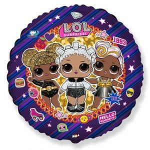 Folinis balionas su LOL lėlytėmis