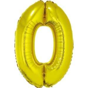 """Auksinis folinis balionas """"0"""""""
