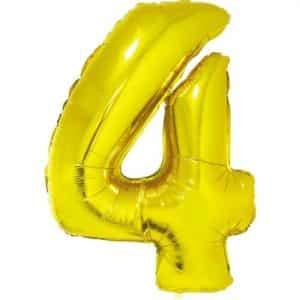 """Auksinis folinis balionas """"4"""""""