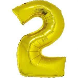 """Auksinis folinis balionas """"2"""""""