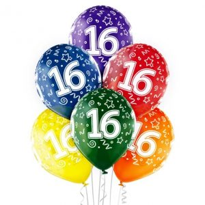 """Gimtadienio balionai """"16"""""""