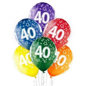 """Gimtadienio balionai """"40"""""""