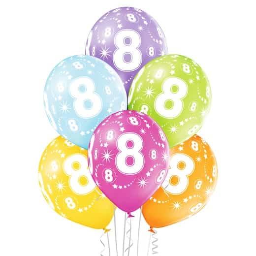 """Gimtadienio balionai """"8"""""""