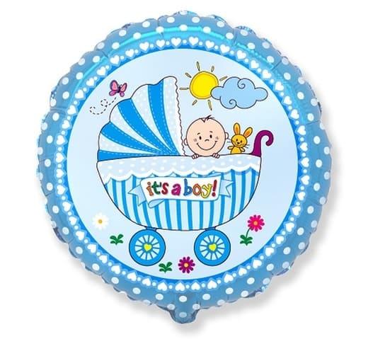 "Folinis balionas ""It's a boy"""