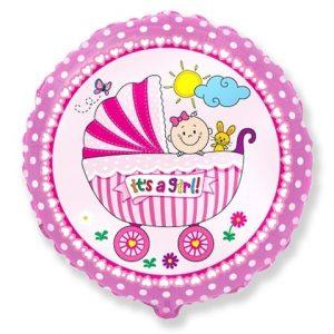 "Folinis balionas ""It's a girl"""