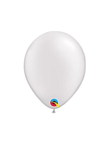 Balti perlamutriniai guminiai balionai