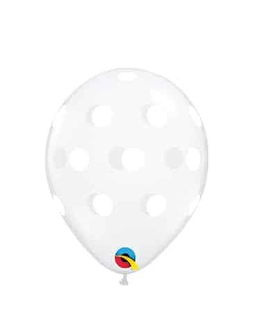 """Skaidrūs balionai su taškeliais 12cm./05"""""""