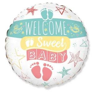 "Folinis balionas ""Welcome baby"""