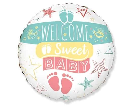 "Folinis balionas ""Welcome baby"""