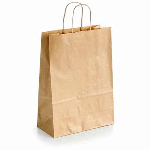 Popierinis dovanų maišelis (auksinės spalvos)
